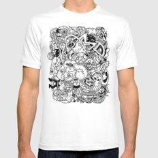 Mutant Pile-Up Mens Fitted Tee MEDIUM White