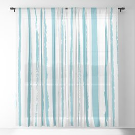 blue streaky pattern Sheer Curtain