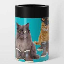 Tough Cats on Aqua Can Cooler