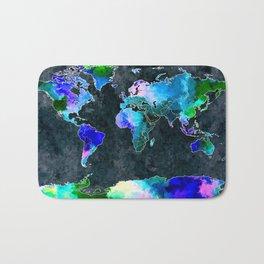 World Dark Grunge Bath Mat
