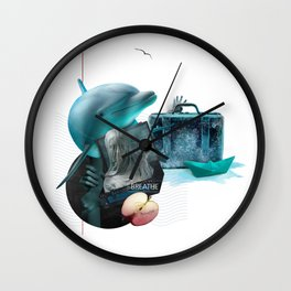 BREATHE (Totem of the Dolphin) Wall Clock