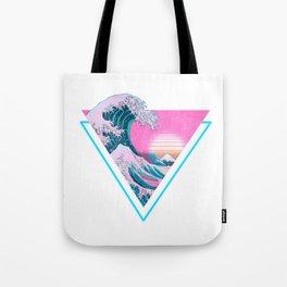 Vaporwave Aesthetic 90's Great Wave Off Kanagawa Tote Bag