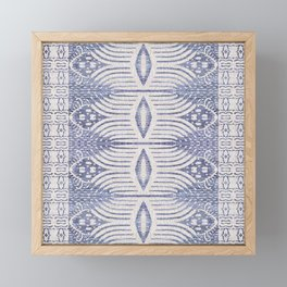 FRENCH LINEN TRIBAL IKAT Framed Mini Art Print