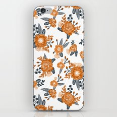 Texas orange and white university texans longhorns college football sports florals iPhone & iPod Skin
