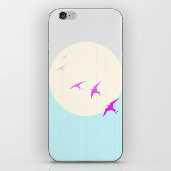 Flying into the Sunset iPhone Skin