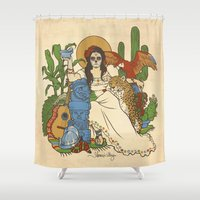 mexico Shower Curtains featuring Mexico by Anne Kelley