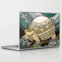 turtle Laptop & iPad Skins featuring Turtle by Yuliya