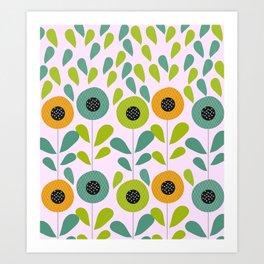 Cheery spring flowers Art Print