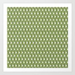 Green shell Art Print