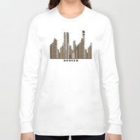 denver Long Sleeve T-shirts featuring Denver by bri.buckley