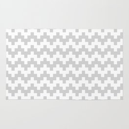 GREY ABSTRACT WAVE PATTERN Rug