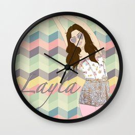 Layla Love Wall Clock