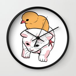 Duck Cat Cute Animal Owner Gift Wall Clock