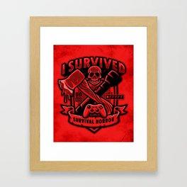 I Survived Survival Horror Framed Art Print
