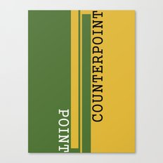 Weekend Update: Point Counterpoint Canvas Print