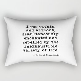 Within and without - F Scott Fitzgerald Rectangular Pillow