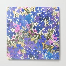 Blue Periwinkle Wildflowers Metal Print