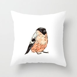 Orange and Black Bird Throw Pillow