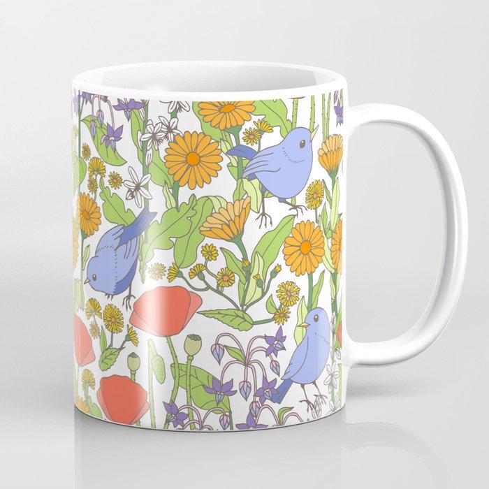 Birds and Wild Blooms Kaffeebecher