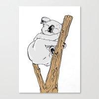 koala Canvas Prints featuring Koala by Madmi