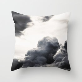 clouds pass by  Throw Pillow