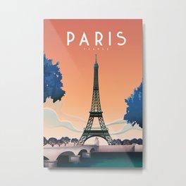 tower eiffel travel poster Metal Print