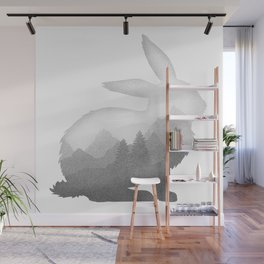 Bunny Rabbit Hare Double Exposure Surreal Wildlife Animal Wall Mural