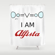 I AM Alfista Shower Curtain
