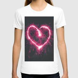 Firework Heart (Color) T-shirt