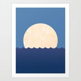 Moonrise Night Sky Art Print