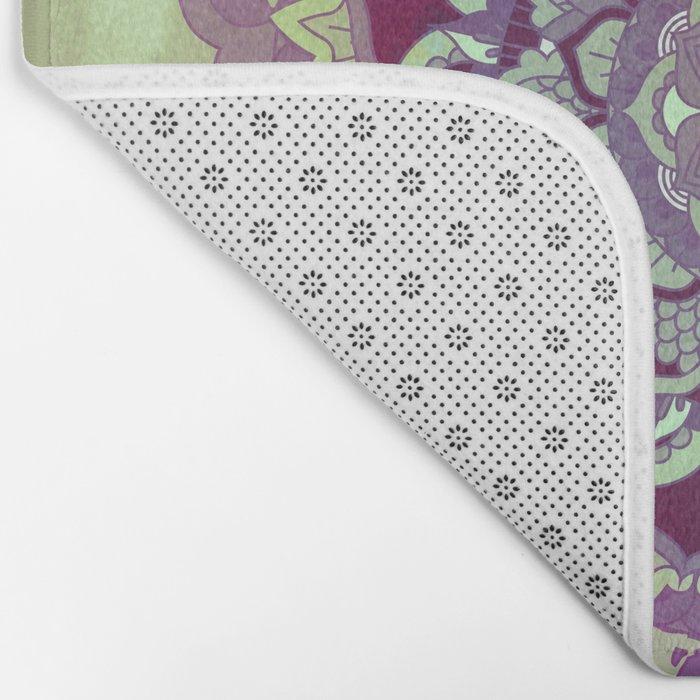 Hipnotic Mandala Design Bath Mat