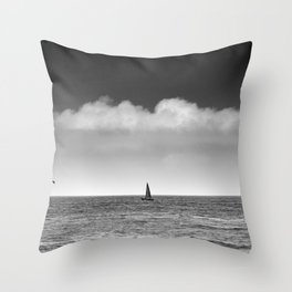 Donostia sailboat. Throw Pillow