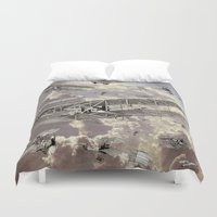 airplanes Duvet Covers featuring airplanes 2 by Кaterina Кalinich