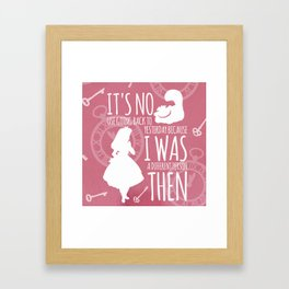 I Was A Different Person Then Framed Art Print