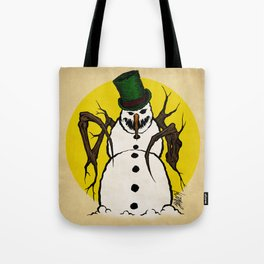 Sinister Snowman Tote Bag