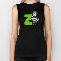 z for zebra Biker Tank