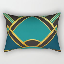 Art Deco New Tomorrow In Turquoise Rectangular Pillow