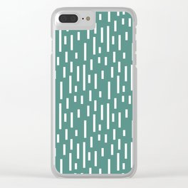 Busy days green Clear iPhone Case