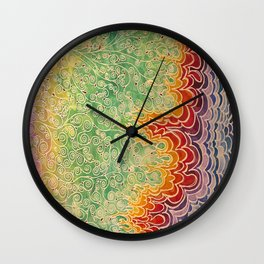 Vines and Flames Wall Clock