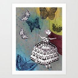 House of Butterflies Art Print