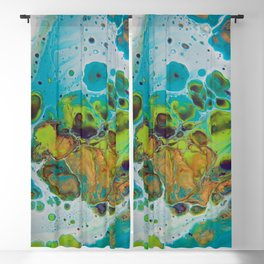 Burning Embers - Abstract Acrylic Art by Fluid Nature Blackout Curtain