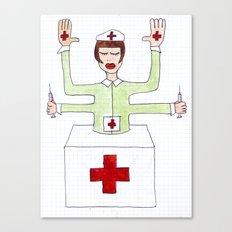 Mrs. fuck vaccine Canvas Print
