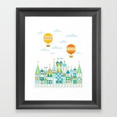 Small Magic white Framed Art Print