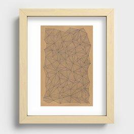 Geometry is like, hard. Recessed Framed Print
