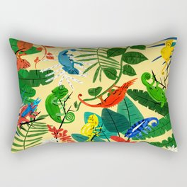 Nine Chameleons Hiding in the Tropics Rectangular Pillow