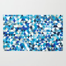 Icy triangles Rug