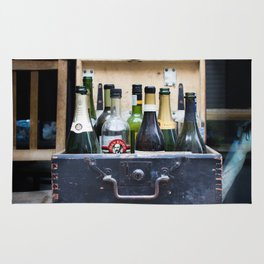 Vintage Bottle Bar Rug