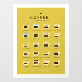 Coffee The Essential Guide Art Print