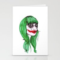 joker Stationery Cards featuring Joker by Annaleigh Louise