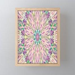Purple Floral Kaleidoscope Abstract Framed Mini Art Print